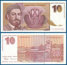 JUGOSLAWIEN / YUGOSLAVIA 10 Novih Dinara 1994 UNC P.149