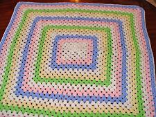 Beautiful Hand Crocheted Baby Blanket    NEW