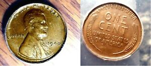 1940 Wheat Cent Extremely Rare Multiple Error TRIPLE STRUCK IN COLLAR 1¢ Coin
