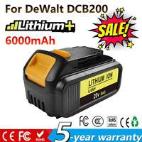 For DeWalt 20V Max XR 6.0 AH Li-Ion Battery DCB200 DCB201 DCB200-2 DCF885C2 GM