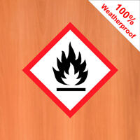 Flammable sticker vinyl warning sticker DANG026 Warning and hazard notices