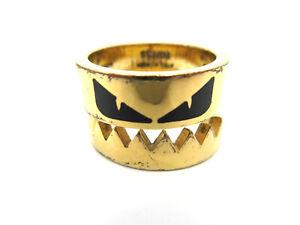 Authentic FENDI Monster Ring EU59 US9.5 JP19 Gold Plated Box 94094 B