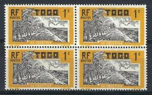 Togo 1924 Sc# 216 Coconut grove Tree block 4 MNH
