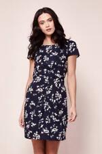 Yumi Floral Bird Ruched Dress Blue Size UK 10 Lf084 AA 17