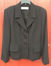 VALERIE STEVENS WOMEN'S Black Lined Dressy Fitted Blazer Size 8 P Work Business