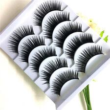 New Design 5Pairs Natural Thick Long False Eyelashes Fake Eyelashes Makeup Tools