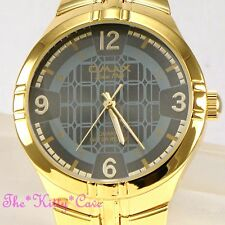 OMAX Designer Waterproof Stainless Steel Gold Pltd Gents Mens Dress Watch HBK811