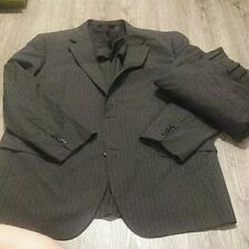 Jos A Bank Stays Cool Mens pinstripe 2pc Suit Wool Poly 46L 2 Button 41L x30.5
