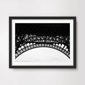 BLACK WHITE EIFFEL TOWER ARCHES DESIGN PARIS ART PRINT Poster Decor Wall Picture