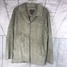 Brandon Thomas  Men Leather  Suede Jacket Size  Large . Color Tan. Preowned.