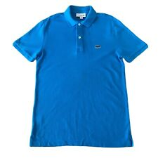LACOSTE SPORT SLIM FIT SIZE 3 Small blue POLO SHIRT t-shirt summer holiday