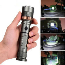 1000 Lumens Ultra Bright LED Handheld Flashlight Zoom Tactical Waterproof Light
