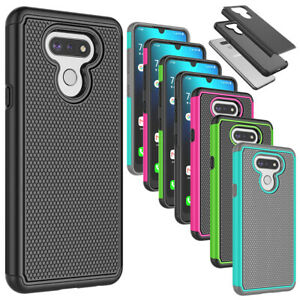 For LG Premier Pro Plus / Harmony 4 Phone Case Hybrid Shockproof Rubber Cover