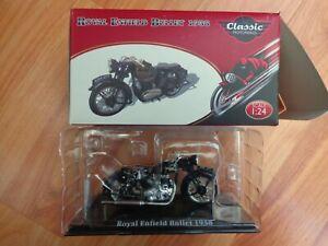 1/24 ATLAS IXO CLASSIC MOTOR BIKES - ROYAL ENFIELD BULLET 1938 BIKE MOTORCYCLE