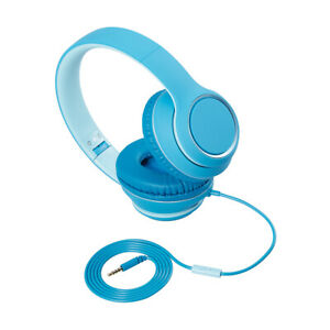 Mpow Foldable Headphones Wired On-Ear Headset w/Volume Limit for Tablets PC F1