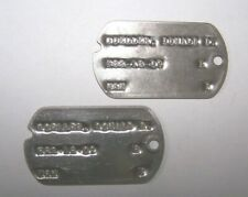 2- WW2 USN Dog Tag Goeller(served on USS RAY SSR-271 ATTACK SUBMARINE  PACIFIC