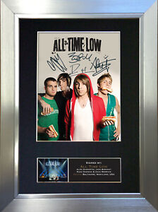ALL TIME LOW Signed Autograph Mounted Quality Photo Reproduction A4 Print 426