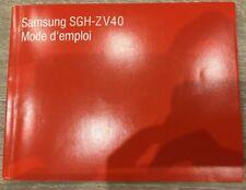 Samsung Mode D'emploi SGH-ZV40 Neuf