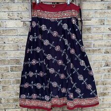 Soft Surroundings Embroidered Layer Gypsy Skirt Women's Large Tall Embellished