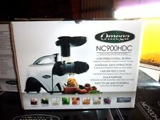 NEW Omega NC900HDC Juicer 6th Gen Masticating Fruit Vegetable Juice Extractor