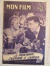 MON FILM 461  (1955)  LE PRINTEMPS L'AUTOMNE ET L'AMOUR FERNANDEL NICOLE BERGER