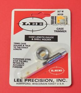 LEE .357 Mag Case Length Gauge & Shell Holder-(90158)-NOS-in package