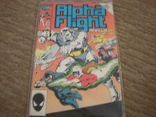 Alpha Flight Annual #1 (1983 series) Marvel Comics Vf/Nm