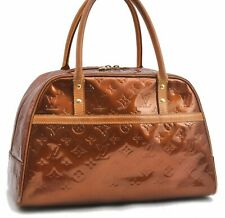 Authentic Louis Vuitton Vernis Tompkins Square Hand Bag Brown M91103 LV A6213