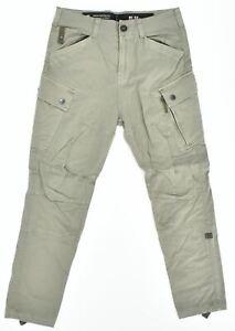 G-STAR Mens Cargo Trousers W31 L29 Khaki Slim Fit KD24