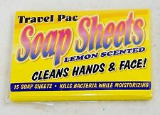 Travel Soap Sheets ~ Lemon Scent, 75 ct ~ Kills Bacteria & Moisturizes On The Go