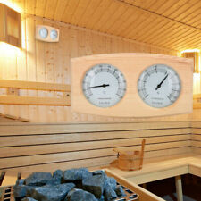 Sauna Thermometer&Hygrometer 2 In 1 Wood Hygrothermograph Sauna Room Accessories