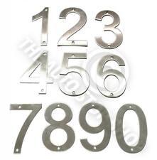 Acero Inoxidable Números Casa -No 666 - tornillo en / puerta / edificio 10cm