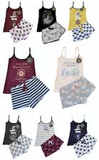 Ladies Cami Pyjamas HARRY POTTER Women 6 to 20 Vest Top Shorts Primark PJ Set