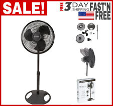 "Brandnew 16"" Adjustable Oscillating Pedestal Fan Stand Floor 3-Speed Home, Black"