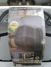 BACK SUPPORT COOL-AIR  MESH ~ BRAND NEW ~ FOR CAR, OFFICE, CHAIR AND TRUCK SEATS
