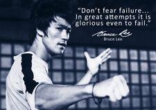 Mejor cartel de Bruce Lee #67 - cotización de motivación-A3 - 420mm X 297mm