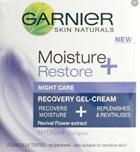 Garnier Moisture Restore Night Care Revitalising Replenishing Gel Cream 50ml