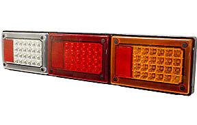 1xPCE - (9-36V) 3-in-1 LED Combo Jumbo Light - WHITE- Truck/Trailer/Caravan etc