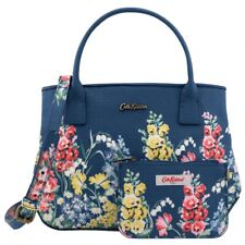 Cath Kidston Navy Floral Border Small Embossed Tote