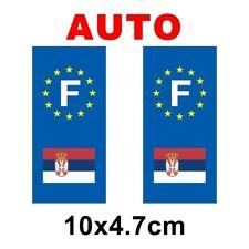 Autocollant plaque immatriculation auto drapeau serbie