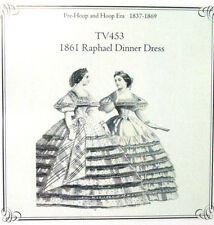 Womens CIVIL WAR Raphael evening dress sewing pattern Truly Victorian TV453