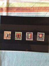 Schweiz, Briefmarken Pro Juventute 1923. Mi 185-188. Kompl. Serie. Wappen