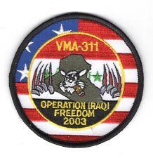 """USMC Marine patch:  Attack Squadron 311, VMA-311 Iraqi Freedom 2003 - 3 1/4"""""""