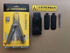 Leatherman CHARGE TTi Titanium+Leather Sheath+42pcs Bit Kit+Bit Driver Extender