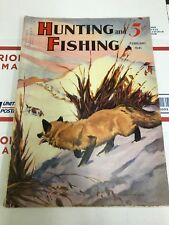 Hunting And Fishing February 1941 PB Parsons Cover Sportsman Magazine