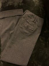 Maurices Ladies Gray Dress Pants Sz 9/10 Boot Cut Loose Fit