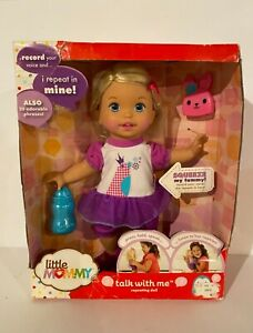 NEW Little Mommy TALK WITH ME REPEATING DOLL Records Voice & Repeats! RARE! HTF!