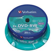DVD-RW Verbatim 4x Tarrina 25 uds