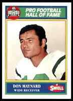 1989 Hall of Fame Green #139 Don Maynard HOF RARE New York Jets / Texas El Paso