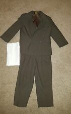 Formal 2pc suit jacket coat and pants slacks boys size 4 regular olive Easter